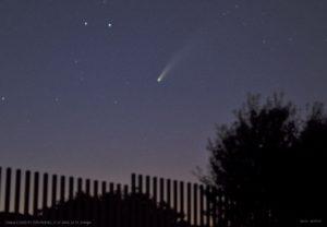 Cometa NEOWISE 17-07-2020, 22.54 (Foto, Rafael Muñoz).
