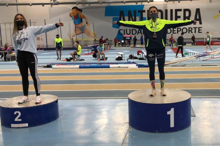 La rondeña Ana Ramírez se trae dos medallas de plata del Campeonato Andaluz de Atletismo