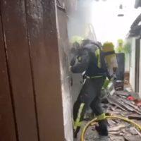 Dos vecinos de Montecorto son evacuados tras declararse un incendio en su vivienda
