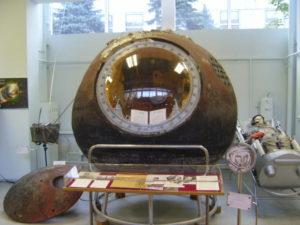 Módulo habitable de la Vostok 1 usada por Gagarin en su primer vuelo orbital.