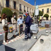 El Ayuntamiento pone en valor la plaza de España con un proyecto de mejora de su pavimento e iluminación