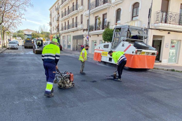 Comienza la primera fase del plan de asfaltado de las calles de Ronda