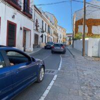 Realizan obras de ensanche en un tramo de la calle Armiñán para facilitar la circulación