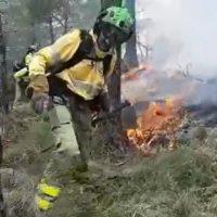 El Infoca controla un incendio que se ha declarado este sábado en el término de Genalguacil