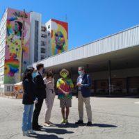 La obra del artista urbano Okuda ya es visible en Ronda