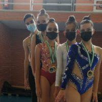 Las gimnastas del Club Agra logran numerosas medallas en los campeonatos de Isla Cristina y de Ronda