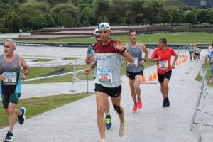 El corredor rondeño durante la prueba deportiva.