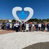 Ronda da las «gracias» a los sanitarios por su labor en la pandemia con un monumento en una entrada a la ciudad