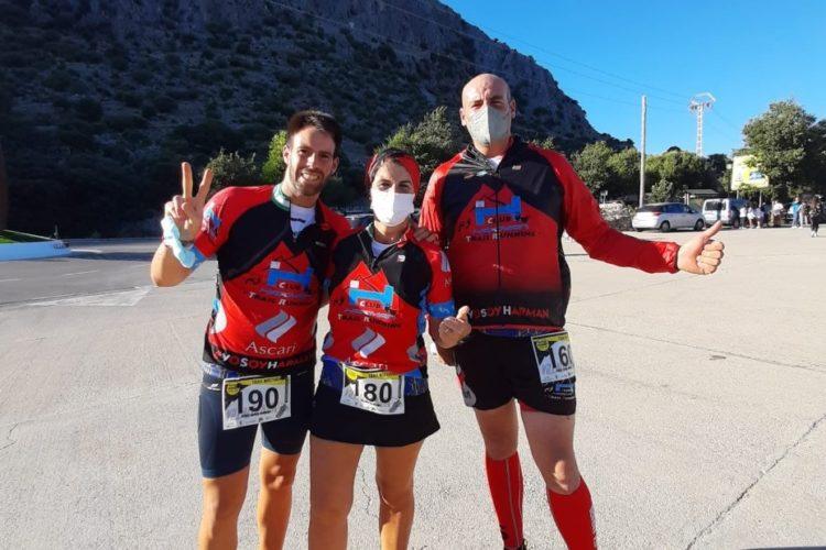 La corredora Yolanda Gamarro, del Club Harman, se trajo el bronce de la 'Villaluenga Mountain Festival'