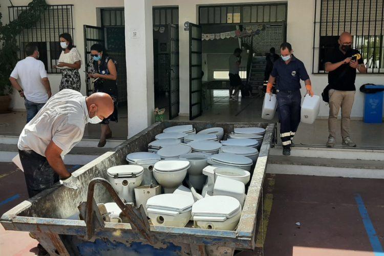 El Ayuntamiento inicia las obras de mejora en los colegios rondeños de cara al nuevo curso escolar