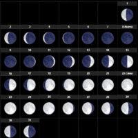 Fases lunares.