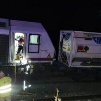 Un incendio en un tren de mercancías provoca el corte de la línea férrea en Arriate durante más de dos horas